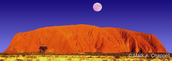 Image result for moon over uluru rock australia